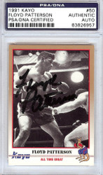 Floyd Patterson Autographed 1991 Kayo Card #50 PSA/DNA #83826957