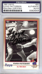 Floyd Patterson Autographed 1991 Kayo Card #50 PSA/DNA #83826958
