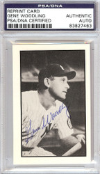 Gene Woodling Autographed 1953 Bowman Reprint Card #31 New York Yankees PSA/DNA #83827463