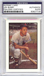 Jim Busby Autographed 1953 Bowman Reprint Card #15 Washington Senators PSA/DNA #83827736