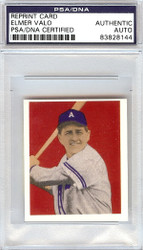 Elmer Valo Autographed 1949 Bowman Reprints Card #66 Philadelphia A's PSA/DNA #83828144