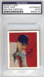 Eddie Yost Autographed 1949 Bowman Reprints Card #32 Washington Senators PSA/DNA #83828160
