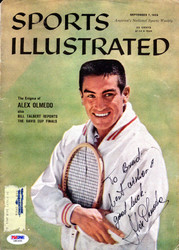 "Alex Olmedo Autographed Sports Illustrated Magazine Cover ""To Brad Best Wishes"" PSA/DNA #Z80490"
