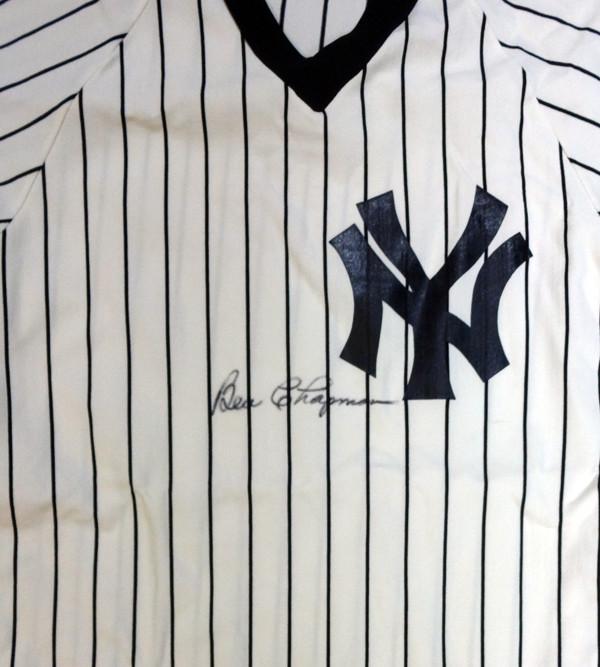 newest 3f177 3cb13 Ben Chapman Autographed New York Yankees Jersey PSA/DNA #W07959