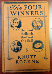 """Knute Rockne Autographed The Four Winners Book """"Sincerely"""" PSA/DNA #Z05645"""