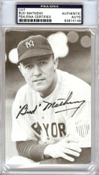 Bud Metheny Autographed 3.5x5 Cut Signature New York Yankees PSA/DNA #83814149