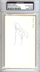 Roger Brown Autographed 3x5 Index Card Indiana Pacers ABA PSA/DNA #83857285
