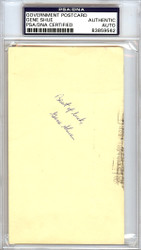 Gene Shue Autographed 3x5 Government Postcard PSA/DNA #83859562