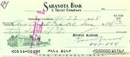 Heinie Manush Autographed Check Washington Senators Check #1076 SKU #100282