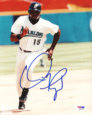 Cliff Floyd Autographed 8x10 Photo Florida Marlins PSA/DNA #Q93756