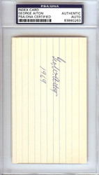 George Bill Aiton Autographed 3x5 Index Card 1912 St. Louis Browns PSA/DNA #83860263