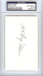 Horace Pug Allen Autographed 3x5 Index Card Brooklyn Dodgers PSA/DNA #83860274