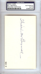 Bill Bagwell Autographed 3x5 Index Card Braves, A's PSA/DNA #83860346