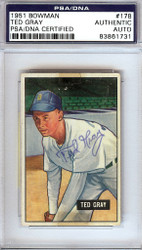 Ted Gray Autographed 1951 Bowman Card #178 Detroit Tigers PSA/DNA #83861731