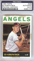 Ed Kirkpatrick Autographed 1964 Topps Card #296 Los Angeles Angels PSA/DNA #83861775