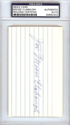 J.W. Moose Clabaugh Autographed 3x5 Index Card Brooklyn Dodgers PSA/DNA #83862202