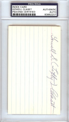 "Gowell ""Lefty"" Claset Autographed 3x5 Index Card Philadelphia A's PSA/DNA #83862207"