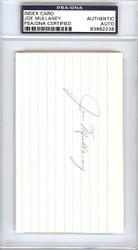 Joe Mullaney Autographed 3x5 Index Card Los Angeles Lakers Coach PSA/DNA #83862238