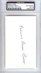 Frank Pratt Autographed 3x5 Index Card Chicago White Sox PSA/DNA #83862302
