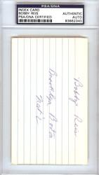 Bobby Reis Autographed 3x5 Index Card Dodgers, Braves PSA/DNA #83862340