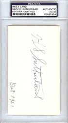 "Harvey ""Suds"" Sutherland Autographed 3x5 Index Card Detroit Tigers PSA/DNA #83862436"