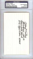 Albert Bert Tooley Autographed 3x5 Index Card Brooklyn Dodgers PSA/DNA #83862460