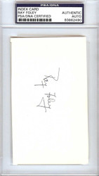 Ray Foley Autographed 3x5 Index Card New York Giants PSA/DNA #83862490