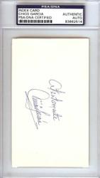 Chico Garcia Autographed 3x5 Index Card Baltimore Orioles PSA/DNA #83862514