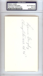 "Denver Grigsby Autographed 3x5 Index Card Chicago Cubs ""Chicago Cubs 1923-24-25"" PSA/DNA #83862558"