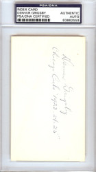 "Denver Grigsby Autographed 3x5 Index Card Chicago Cubs ""Chicago Cubs 1923-24-25"" PSA/DNA #83862559"