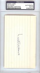 Lester Les Howe Autographed 3x5 Index Card Boston Red Sox PSA/DNA #83862590