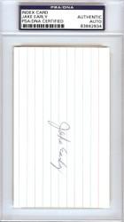 Jake Early Autographed 3x5 Index Card Washington Senators PSA/DNA #83862834