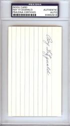 Ray Fitzgerald Autographed 3x5 Index Card Cincinnati Reds PSA/DNA #83862918
