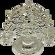 Rose Motif Tissue Holder Silver