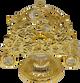 Rose Motif Tissue Holder Gold