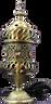 Intricate Carousel Electric burner Bronze Small size AttarMist.com