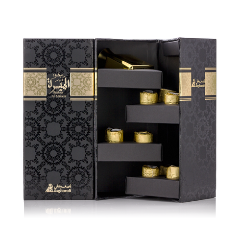 Bakhoor Al Maisera 12 pcs + Spray Perfume in Gift Box - AttarMist.com