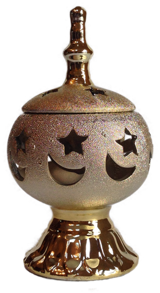 Gold Ceramic Incense Burner