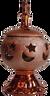 Copper Ceramic Incense Burner
