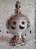 Silver Ceramic Incense Burner
