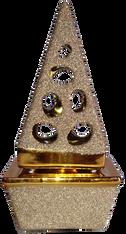 Glitter Pyramid Charcoal Burner