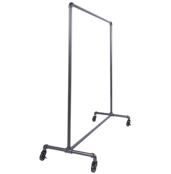 "60"" Single Rail Ballet Bar Pipe Clothing Rack | GREY"