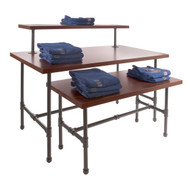 Pipeline Nesting Table Set | Small - Large - Topper | GREY