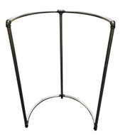 Wall Hugging Half Round Pipe Rack | Raw Metal
