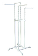4-Way Pipe Clothing Rack | MATTE WHITE
