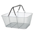 Wire Mesh Shopping Baskets SILVER | Case of 6