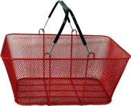 Wire Mesh Shopping Baskets RED | Case of 6