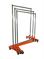 Heavy Dutty Garment Z Rack | Adjustable Height | Orange Base