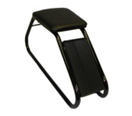 Shoe Fitting Stool With Black Padded Seat & Black Frame