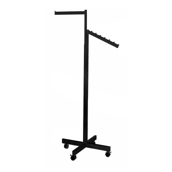 2 Way Rolling Rack with straight and slanted arms